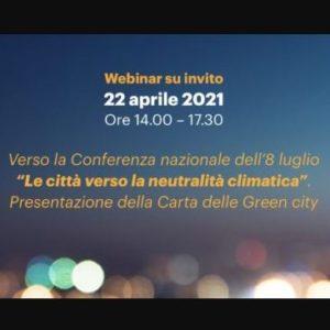 Webinar delle città protagoniste per la neutralità climatica